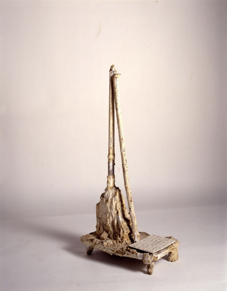 71 untitled wood wire plaster cardboard white paint graphite 1984.jpg