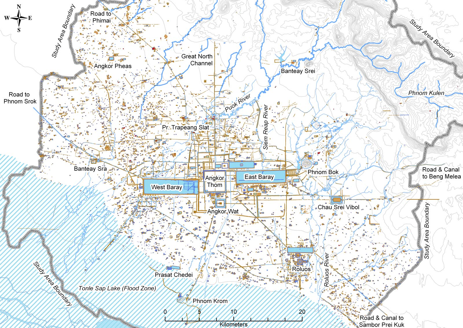 85 comprehensive archaeo map of angkor