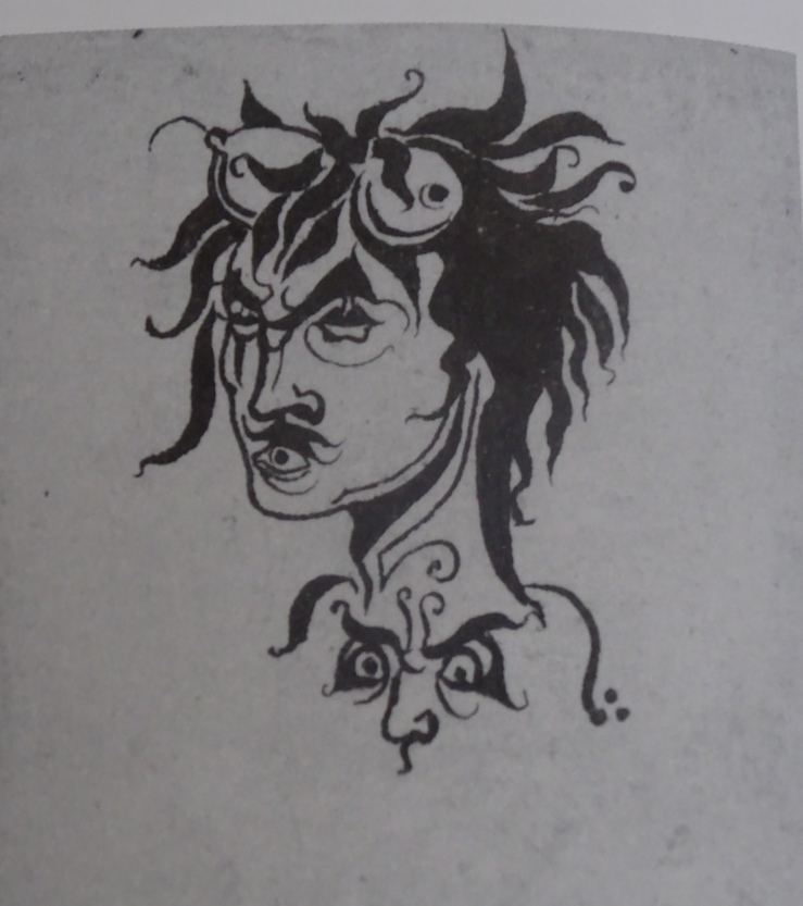 13 DSC04226 beardsley bon mots grotesque head breasts for horns face on chest Z709  copy.jpg